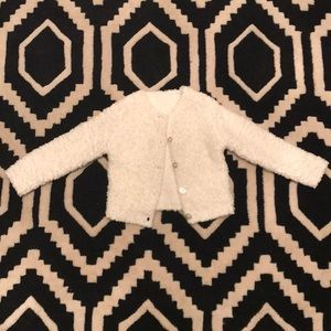 Other - White cotton light sweater jacket.